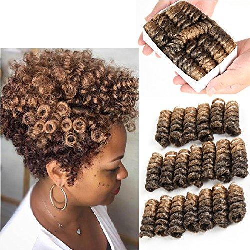 5 Inch 20 Strands/Pack Jamaican Bounce Crochet Hair Wand Curl Synthetic Hair Crochet Braids Afro Kinky Braiding Hair Extensions African Braids (1B/27#)