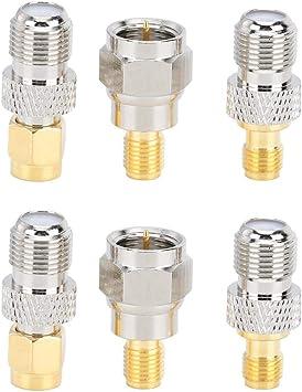 Adaptador Tipo F, 6 Piezas 50 ohmios Impedancia Adaptador ...
