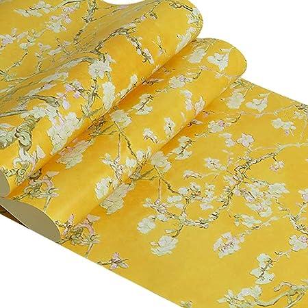 Papier Peint Non-tissé Fleur D\'abricot Rétro Van Gogh Pour ...