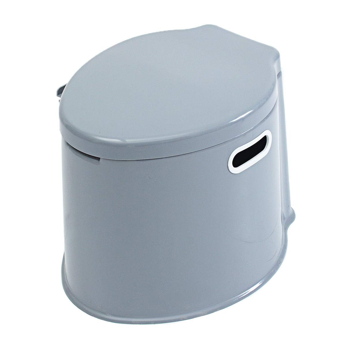 GJH One 1.32-Gallon 5L Portable Toilet Flush Potty Commode Travel Camping Indoor Outdoor