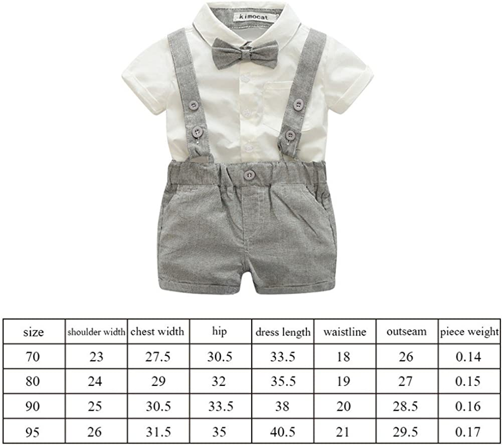 Zhengpin 2PCS Baby Boy Summer Set T-Shirts Tops+Bib Pant Overalls Outfits Clothes