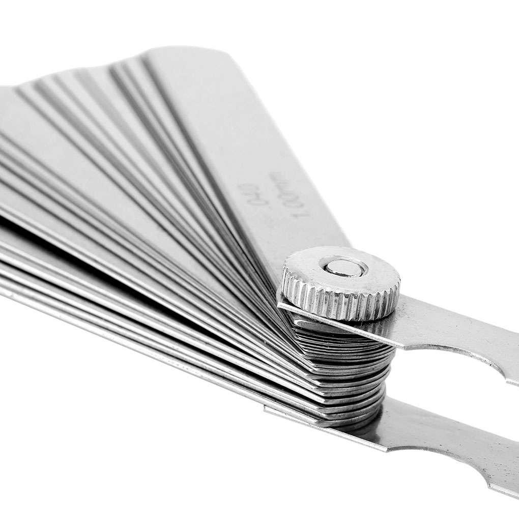 Flushzing 32 Lames en Acier Inoxydable Set Feeler Voie m/étrique 0.02-1.0mm Crevasse jauge Measurment Outil