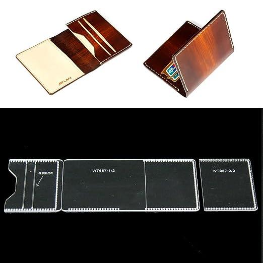 Fujiyuan - Funda de piel para tarjetas de acrílico, diseño ...