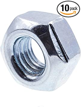 10-Pack Prime-Line Products M4-0.70 Prime-Line 9118177 All-Metal Lock Nut Class 10 Metric Zinc Plated Steel
