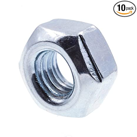 M4 full nut plated steel pack of 20