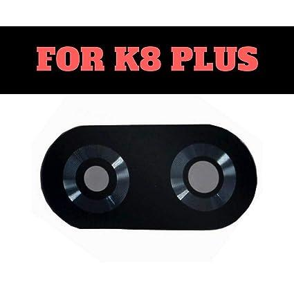 (HUKATO) Back Rear Camera Glass with Adhesive for Lenovo K8 Plus -Black