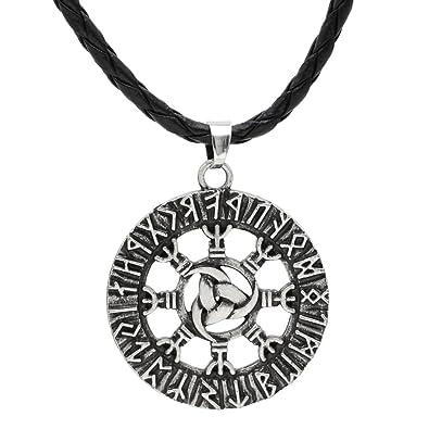 Amazon ttkp men norse viking triple horn of odin rune pendant ttkp men norse viking triple horn of odin rune pendant triple pendants pantgram rune necklace aloadofball Gallery