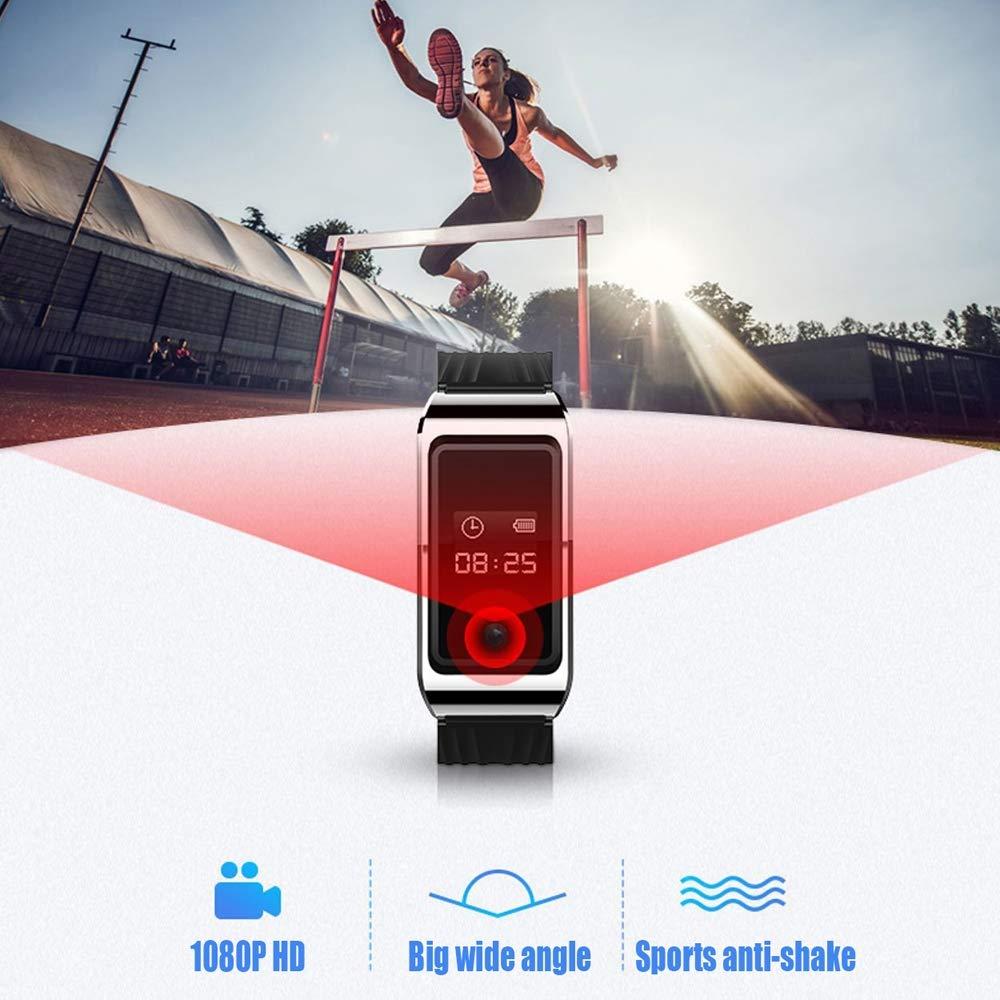 Benfa Enregistreur Vocal cach/é Bracelet HD Mini Montre cam/éra Espion 1080p,16GB