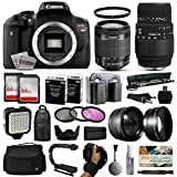 Canon EOS Rebel T6i DSLR Digital Camera + 18-55mm IS STM + Sigma 70-300mm Lens + 128GB Memory + 2 Batteries + Charger + LED Video Light + Backpack + Case + Filters + Auxiliary Lenses + $50 Gift Card