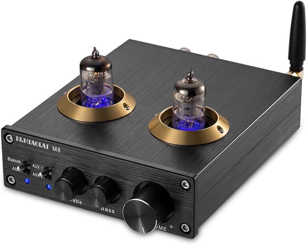 nobsound Bluetooth Vacuum Tube Power Amplifier Class D HiFi Audio Digital Amp 100W (50W × 2) Amplificador de potencia