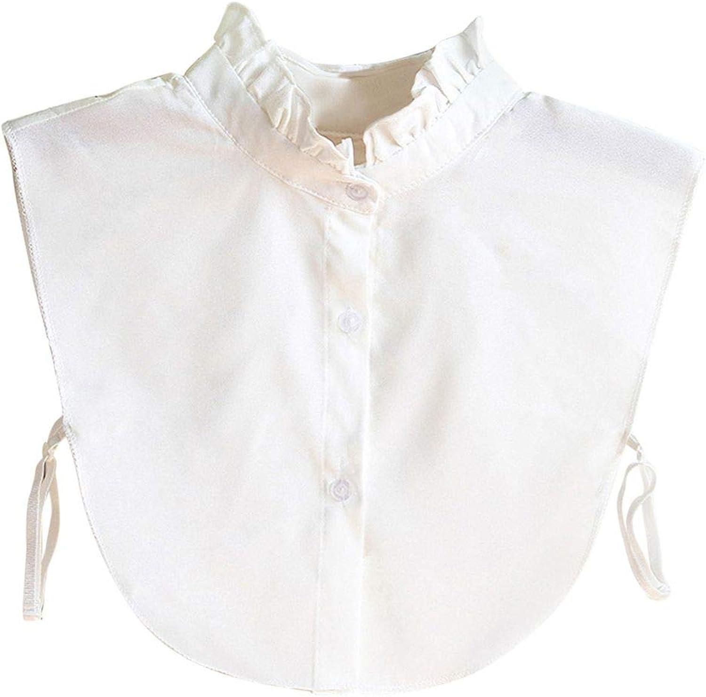 SUNNFLOOWER 2pcs Detachable Half Shirt Blouse False Collar Lace Embellished False Collar Bib All-match Fake Collar Vintage Elegant D/écor