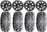 """Bundle - 9 Items: STI HD9 14"""" Beadlock Wheels MB 28"""" MotoClaw Tires [4x137 Bolt Pattern 12mmx1.5 Lug Kit]"""