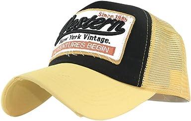 Fossen Verano Vintage Sombrero con Viseras Western Malla Gorras ...