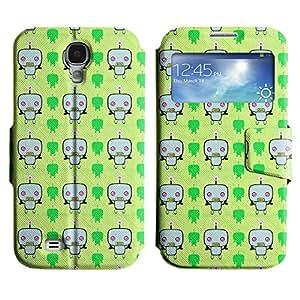 LEOCASE Robots Lindos Funda Carcasa Cuero Tapa Case Para Samsung Galaxy S4 I9500 No.1000728