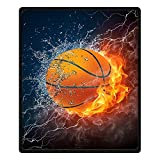 QH Queen Size Basketball Printing Velvet Plush Throw Blanket Comfort Design Home Decoration Fleece Blanket Perfect for Couch Sofa or Travelling 58' x 80' (4)