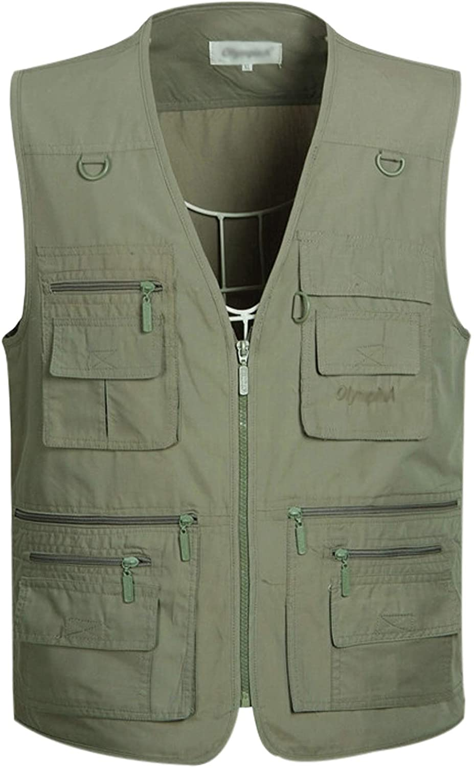 Gihuo Mens Summer Outdoor Work Safari Fishing Travel Vest with Pockets