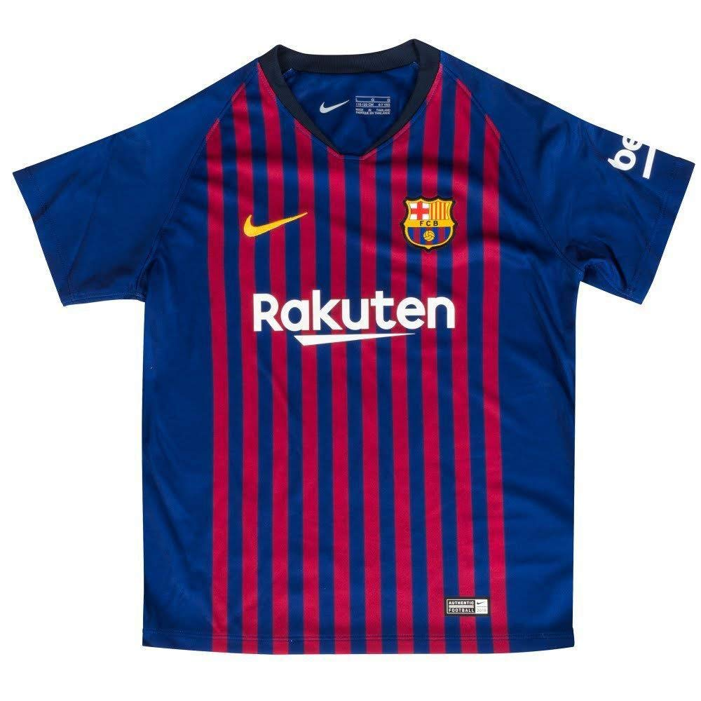 4ac22a74a Amazon.com   NIKE 2018-2019 Barcelona Home Little Boys Mini Kit   Sports    Outdoors