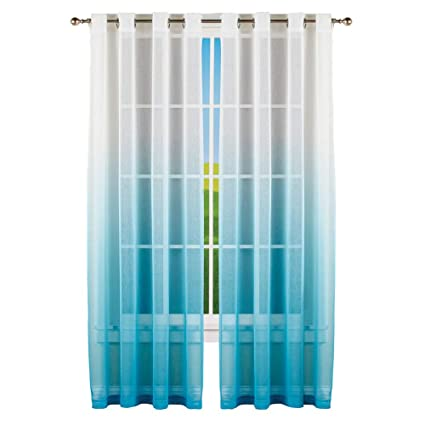 amazon com collections etc sheer ombre window curtain panel withWindow Curtain Photo #14