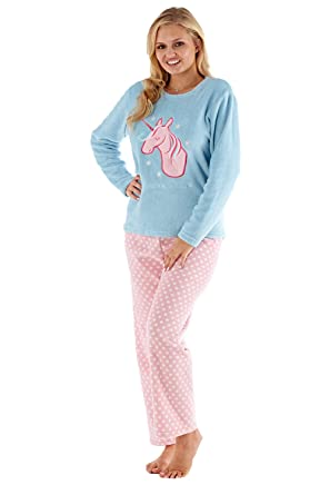 meet 2ece8 16179 Selena Secrets Damen Fleece Einhorn Träume Pyjama Set ...