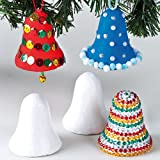 Campanelle in polistirolo per abbellire l'albero di Natale (confezione da 10)