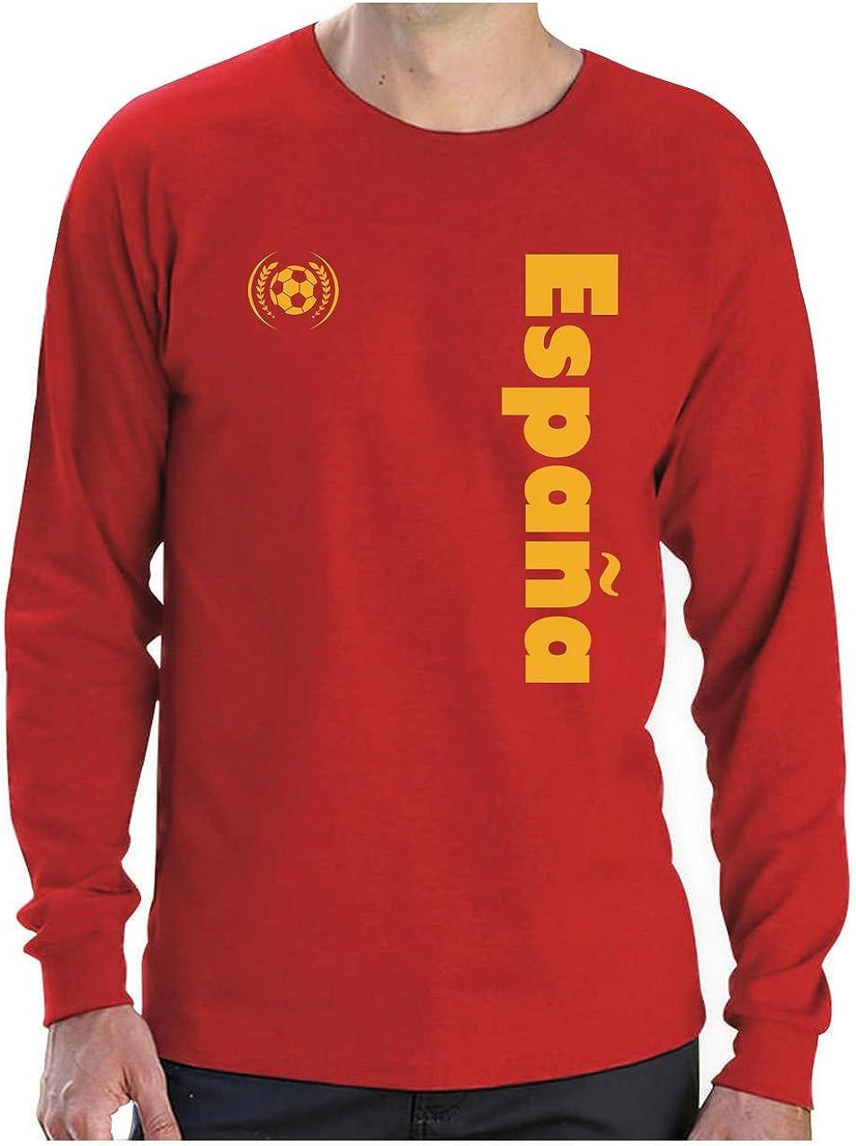 Camiseta de Manga Larga para Hombre - Apoya a la selección Española en el Mundial de Fútbol!: Amazon.es: Ropa y accesorios