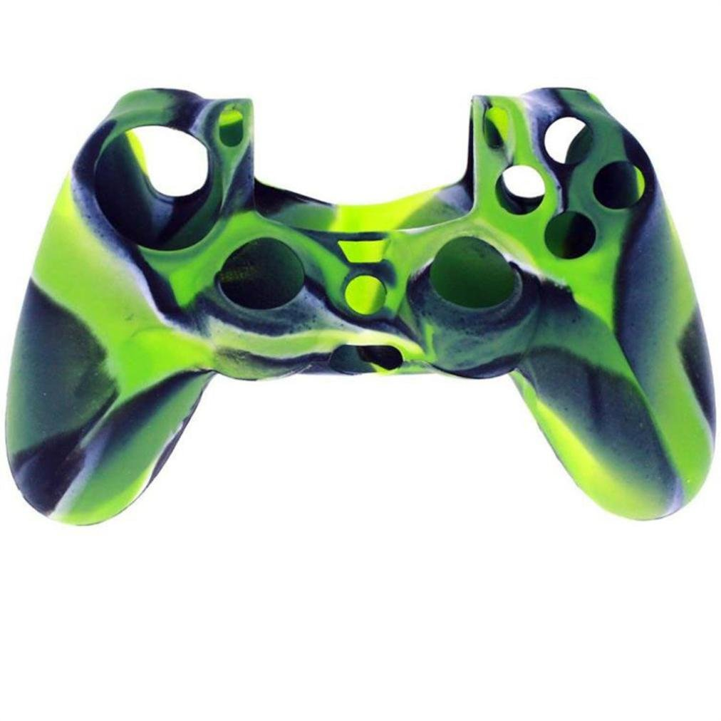 Red 1x Silica Gel Soft Camouflage Silicone Case Cover For Playstation PS4 Controller
