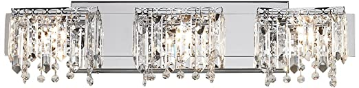 Possini Euro Design Crystal Strand 25 3/4u0026quot; Wide Bath Light