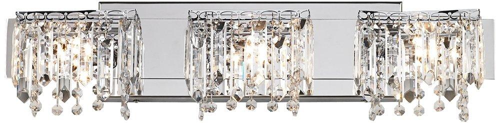 Possini Euro Design Crystal Strand 25 3/4'' Wide Bath Light