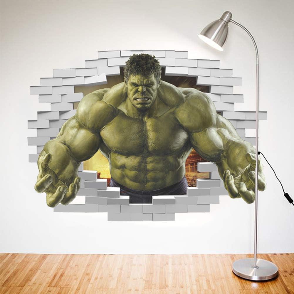 Oulensy Superheroes Comic AvengersIncredible Hulk Wall Sticker Art Vinyl Home Kids Boy Chambre PosterThor D/écor de nurserie Decal