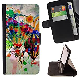 For Sony Xperia Z5 5.2 Inch Smartphone Design Hot Air Balloons Style PU Leather Case Wallet Flip Stand Flap Closure Cover
