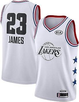 FDRYA Camisetas de Baloncesto para Hombre Lakers 23 James Jersey ...
