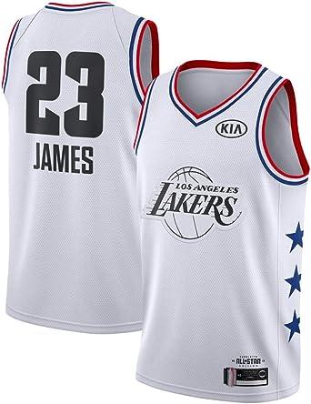 FDRYA Camisetas de Baloncesto para Hombre Lakers 23 James Jersey, Camisa de Baloncesto Chaleco, Baloncesto Swingman Jersey Entrenamiento Correr Gimnasio Ropa Deportiva -White-S(60-70kg): Amazon.es: Ropa y accesorios