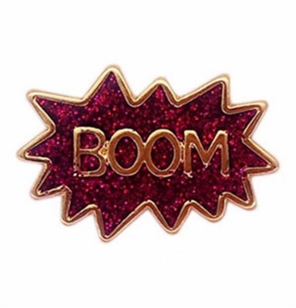 PrutX Cute Buttons Badges Joyas para Mujeres Vintage Boom Cartoon ...