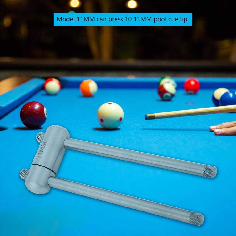 Alomejor Cue Tip Press Billar de Acero Inoxidable Pool Cue Tip ...
