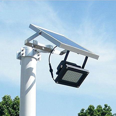 solar powered floodlight spotlight outdoor waterproof security light 54led 400 lumen for home