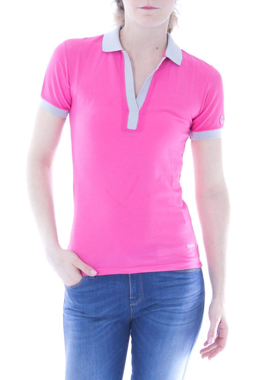 Brand Size M REFRIGIWEAR Women's PX9001PINK Pink Cotton Polo Shirt
