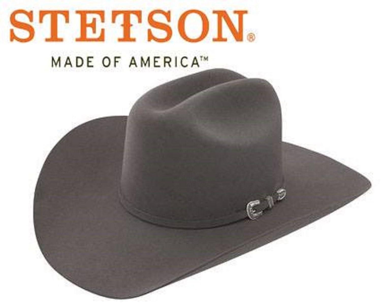 93c761d18e2 Stetson Men s 3X Oakridge Wool Cowboy Hat - Swoakr-724007 Black at Amazon  Men s Clothing store