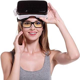 Le Casque De Réalité Virtuelle 3D Ajustez La Sangle Et Les Films Et Le Jeu De Lunettes À Télécommande du Contrôleur VR, Adaptés Aux Téléphones Intelligents De 4,7 À 6 Pouces (VR Simple)