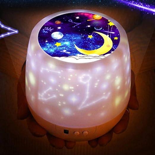 VIOYO Luz Nocturna Colorido Cielo Estrellado Proyector Luz de ...