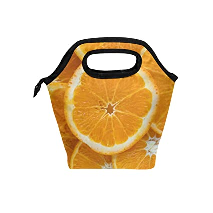 77662597e96b Amazon.com - HEOEH Orange Fruit Love Lunch Bag Cooler Tote Bag ...