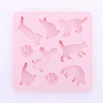 Amazon Com Cat Shaped Silicone Chocolate Jelly And Candy