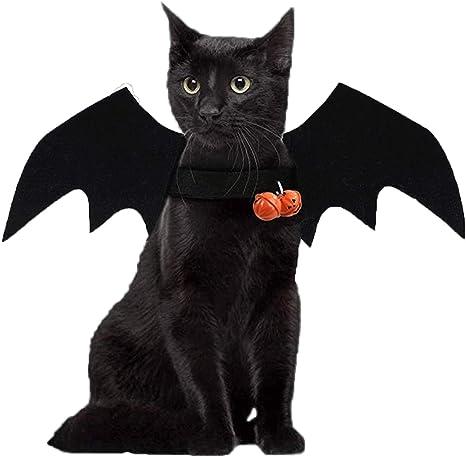 Rancross Disfraz de murciélago de Halloween para Mascotas, Gatos ...