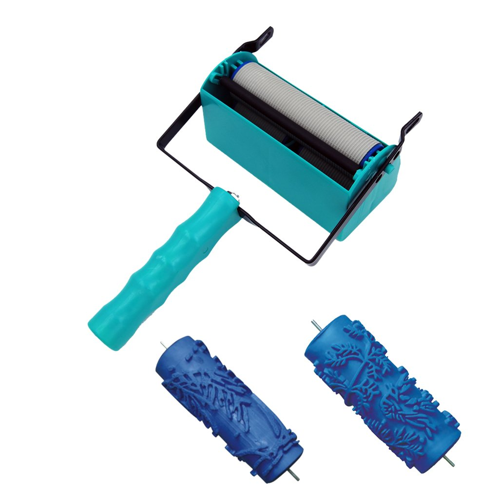 Jili Online Wall DIY Decor Tool Double Color Decoration Painting Machine + 2Pieces 15cm Painting Roller
