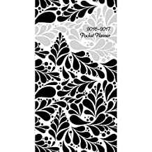 2016-2017 Monthly Pocket Planner - Black and White Swirls by Calendar Company