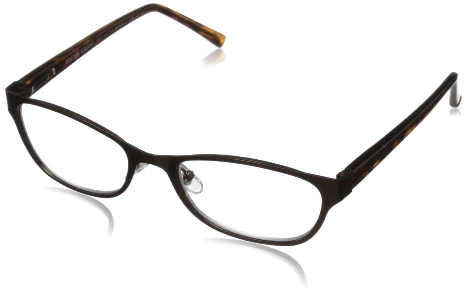 Foster Grant Charlsie Women's Multifocus Glasses, Tortoise, 2