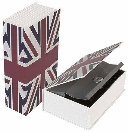 LifeUp-Caja Fuerte Libros Caja con Forma de Libro, SECRETA Seguridad con Llave,