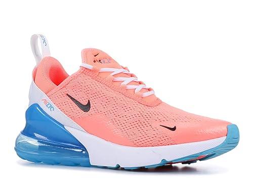 Nike Women's Air Max 270 Running Shoe (6.5, Lava GlowBlackWhiteBlue Fury)