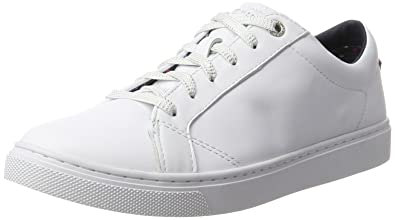 V1285enus 17a1, Sneakers Basses Femme, Blanc (White), 41 EUTommy Hilfiger