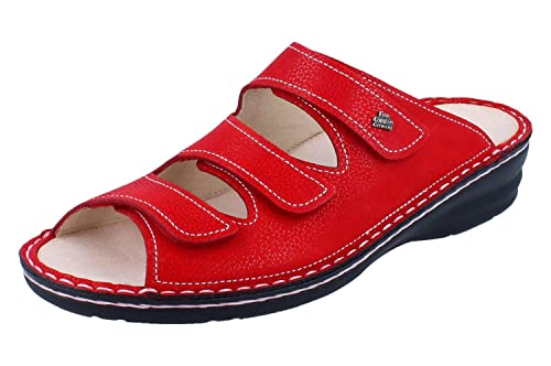 e5304ec1f8ce2 Finn Comfort Women s Thong Sandals Red Red  Amazon.co.uk  Shoes   Bags