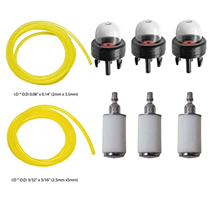 61 Yo77OIL._SX425_ amazon com hifrom fuel lines with fuel filters primer bulbs for